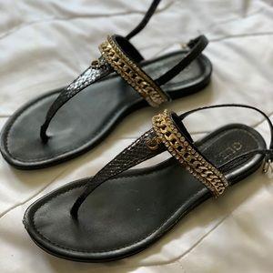 Black Guess sandals